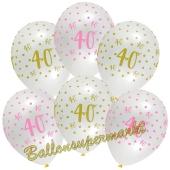 Pink Chic 40, Luftballons zum 40. Geburtstag