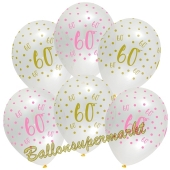 Pink Chic 60, Luftballons zum 60. Geburtstag