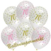 Pink Chic 70, Luftballons zum 70. Geburtstag