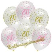 Pink Chick 80, Luftballons zum 80. Geburtstag