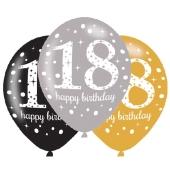 Sparkling Celebration 18, Luftballons zum 18. Geburtstag