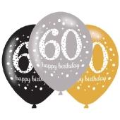 Sparkling Celebration 60, Luftballons zum 60. Geburtstag