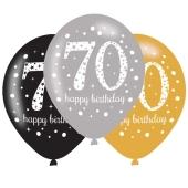 Sparkling Celebration 70, Luftballons zum 70. Geburtstag