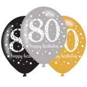 Sparkling Celebration 80, Luftballons zum 80. Geburtstag
