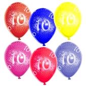Luftballons Zahl 10, zum 10. Geburtstag, 10 Stück