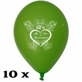 Luftballons zur Petersilienhochzeit, 10 Stück, 30 cm Latexballons