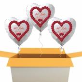 Luftballons-zur-Rubinhochzeit-Herzballons-weiss-Herzrubine-40-Jahre-3-Stueck-mit-Helium