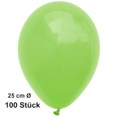 Luftballons Apfelgrün, 25 cm, 100 Stück, preiswert und günstig
