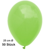 Luftballons Apfelgrün, 25 cm, 50 Stück, preiswert und günstig