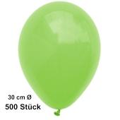 Luftballon Apfelgrün, Pastell, gute Qualität, 500 Stück