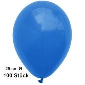 Luftballons Blau, 25 cm, 100 Stück, preiswert und günstig