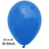 Luftballons Blau, 25 cm, 50 Stück, preiswert und günstig