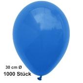 Luftballon Blau, Pastell, gute Qualität, 1000 Stück