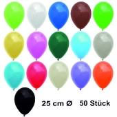Luftballons Bunt gemischt, 25 cm, 50 Stück, preiswert und günstig