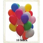 Luftballons Bunt Gemischt, 28-30 cm, 10 Stück, preiswert und günstig