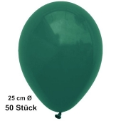 Luftballons Dunkelgrün, 25 cm, 50 Stück, preiswert und günstig