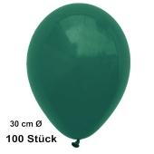 Luftballons 28-30 cm, Dunkelgrün, preiswert und günstig