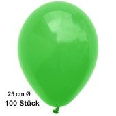 Luftballons Grün, 25 cm, 100 Stück, preiswert und günstig