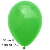 Luftballons Grün, 30 cm, preiswert und günstig