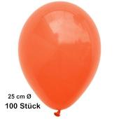 Luftballons Orange, 25 cm, 100 Stück, preiswert und günstig