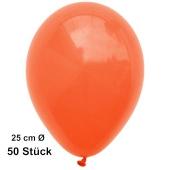 Luftballons Orange, 25 cm, 50 Stück, preiswert und günstig