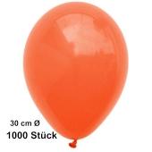 Luftballon Orange, Pastell, gute Qualität, 1000 Stück