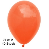 Luftballons Orange, 28-30 cm, 10 Stück, preiswert und günstig