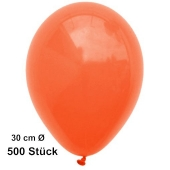 Luftballon Orange, Pastell, gute Qualität, 500 Stück