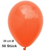 Luftballons Orange, 30 cm, 50 Stück, preiswert und günstig