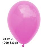 Luftballon Pink, Pastell, gute Qualität, 1000 Stück