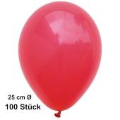 Luftballons Rot, 25 cm, 100 Stück, preiswert und günstig