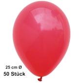 Luftballons Rot, 25 cm, 50 Stück, preiswert und günstig