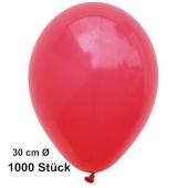 Luftballon Rot, Pastell, gute Qualität, 1000 Stück