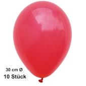 Luftballons Rot, 28-30 cm, 10 Stück, preiswert und günstig