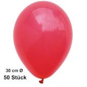 Luftballon Rot, Pastell, gute Qualität, 50 Stück