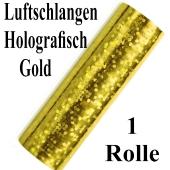 Luftschlangen Gold Holografisch