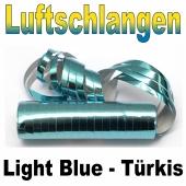 Luftschlangen türkis-hellblau-metallic, flammenhemmend