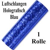 Luftschlangen Blau Holografisch Metallic