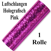 Luftschlangen Pink Holografisch Metallic