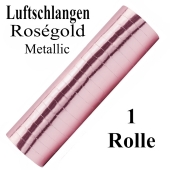 Luftschlangen Rosegold Metallic