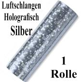Luftschlangen Silber Holografisch