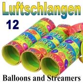 Luftschlangen Balloons and Streamers, Jumbo, 12 Rollen