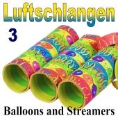 Luftschlangen Balloons and Streamers, Jumbo, 3 Rollen