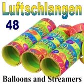 Luftschlangen Balloons and Streamers, Jumbo, 48 Rollen
