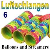 Luftschlangen Balloons and Streamers, Jumbo, 6 Rollen