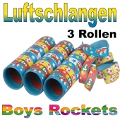 Luftschlangen Boys Rockets, 3 Rollen