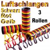 Deutschland Luftschlangen, 3 Rollen