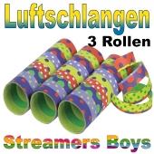 Luftschlangen Streamers Boys