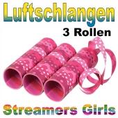 Luftschlangen Kindergeburtstag Mädchen, Streamers Girls