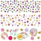 Magical Unicorn Konfetti, Partydekoration Einhorn, 3 Sorten Streukonfetti